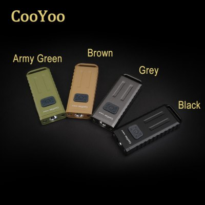 CooYoo Usignal CREE XP - G2 Keychain FlashlightLED Flashlights<br>CooYoo Usignal CREE XP - G2 Keychain Flashlight<br><br>Available Light Color: Red,UV,White<br>Battery Included or Not: Yes<br>Battery Quantity: Built-in 280mAh battery<br>Battery Type: Lithium Polymer<br>Beam Distance: 0-50m<br>Body Material: Aluminium Alloy<br>Brand: CooYoo<br>Emitters: Cree XP-G2, Other<br>Emitters Quantity: 3<br>Feature: Rechargeable, Power Indicator, Portable, Lightweight, Lanyard, Adjustable brightness<br>Flashlight size: Mini<br>Flashlight Type: Keychain,UV<br>Function: Walking, Night Riding, Household Use, Camping, EDC, Hiking<br>Impact Resistance: 1.5M<br>Lens: Glass Lens<br>Light color: White light, Red light, Black light<br>Light Modes: High,Low,Mid,Strobe<br>Lumens Range: 1-200Lumens<br>Luminous Flux: 160Lm<br>Luminous Intensity: 410cd<br>Max.: 20h<br>Mode: 6 (White: High - Mid - Low; UV light; Red Light - Red Strobe)<br>Mode Memory: Yes<br>Model: Usignal<br>Package Contents: 1 x CooYoo Usignal Keychain Flashlight, 1 x Stainless Steel Keychain, 1 x Lanyard, 1 x English Manual<br>Package size (L x W x H): 12.00 x 7.00 x 5.00 cm / 4.72 x 2.76 x 1.97 inches<br>Package weight: 0.0600 kg<br>Power Source: USB<br>Product size (L x W x H): 5.90 x 2.30 x 1.00 cm / 2.32 x 0.91 x 0.39 inches<br>Product weight: 0.0380 kg<br>Rechargeable: Yes<br>Reflector: Aluminum Smooth Reflector<br>Waterproof Standard: IPX-5 Standard Waterproof