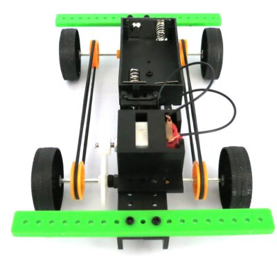 DIY 4WD Car No.2 Model Battery Operated Educational Toy Physics Handwork no 14 925 diy fb 4