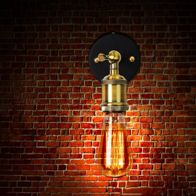 Industrial Edison Wall Sconce Swivel E27 HolderLiving room lighting<br>Industrial Edison Wall Sconce Swivel E27 Holder<br><br>Bulb Included: No<br>Input Voltage: AC 85-230V<br>Package Contents: 1 x Light Holder, 1 x Mounting Base, 1 x Accessories Package, 1 x English Manual<br>Package size (L x W x H): 8.00 x 17.00 x 20.00 cm / 3.15 x 6.69 x 7.87 inches<br>Package weight: 0.530 kg<br>Product size (L x W x H): 5.00 x 5.00 x 15.00 cm / 1.97 x 1.97 x 5.91 inches<br>Product weight: 0.450 kg<br>Quantity of Spots: 1<br>Shade Material: Iron, Aluminum<br>Type: Wall Light