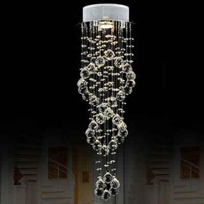 LightMyself Double Helix LED Crystal Chandelier Banquet Dining Hall