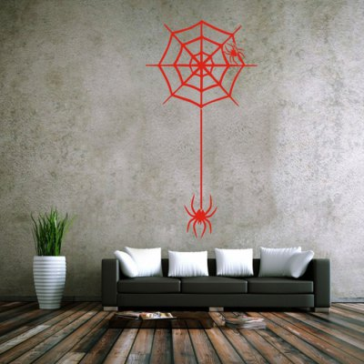 Water Resistant Spider Web Wall StickerWall Stickers<br>Water Resistant Spider Web Wall Sticker<br><br>Subjects: Animal<br>Art Style: Plane Wall Stickers,Toilet Stickers<br>Color Scheme: Solid Color<br>Functions: Decorative Wall Stickers<br>Material: Vinyl(PVC)<br>Product weight: 0.120 kg<br>Package weight: 0.150 kg<br>Product size (L x W x H): 98.00 x 42.00 x 0.10 cm / 38.58 x 16.54 x 0.04 inches<br>Package size (L x W x H): 58.00 x 5.00 x 5.00 cm / 22.83 x 1.97 x 1.97 inches<br>Package Contents: 1 x Spider Wed Style Wall Sticker