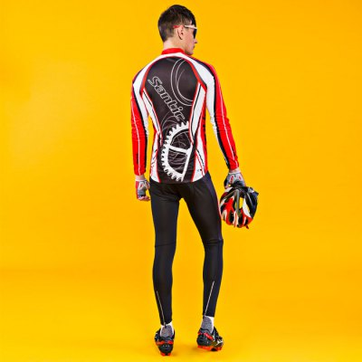 Santic Male Long Sleeves Cycling Suit 4D Stereo CushionCycling Clothings<br>Santic Male Long Sleeves Cycling Suit 4D Stereo Cushion<br><br>Brand: Santic<br>Type: Long Sleeves Cycling Suit<br>Suitable Crowds: Men<br>Feature: Breathable,High elasticity,Keep Warm,Sponge Padded<br>Size: L,M,XL,XXL<br>Product weight: 0.500 kg<br>Package weight: 0.560 kg<br>Package size (L x W x H): 20.00 x 20.00 x 15.00 cm / 7.87 x 7.87 x 5.91 inches<br>Package Contents: 1 x Long Sleeves, 1 x Pants