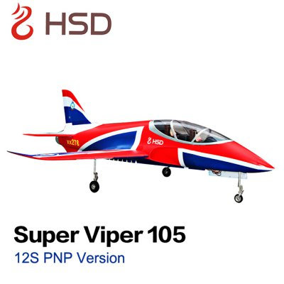 HSD Super Viper 105 12S 105mm Bypass EDF 1500mm Wingspan Glider Aeroplane PNP