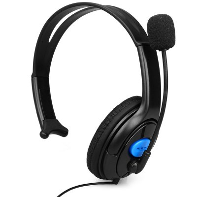 One Side Large Headset for PS4 3.5mm Jack with MicrophoneGame Accessories<br>One Side Large Headset for PS4 3.5mm Jack with Microphone<br><br>Compatible with: Sony PS4<br>Features: Earphone<br>Product weight: 0.094 kg<br>Package weight: 0.125 kg<br>Product size: 14.50 x 7.50 x 17.00 cm / 5.71 x 2.95 x 6.69 inches<br>Package size: 18.00 x 8.00 x 18.00 cm / 7.09 x 3.15 x 7.09 inches<br>Package Contents: 1 x One Side Headset