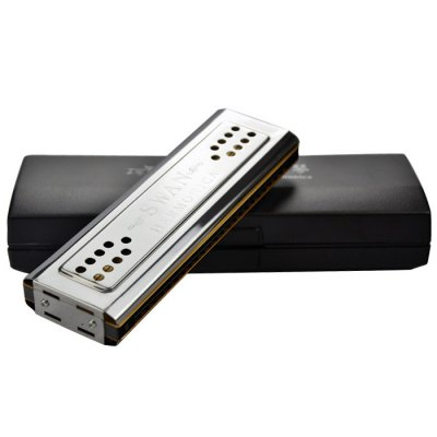Swan SW24-12 HarmonicaHarmonica<br>Swan SW24-12 Harmonica<br><br>Manner of Articulation: Other<br>Hole Number: 24<br>Jean Body Material: Metal,Plastic<br>Package weight: 0.240 kg<br>Product size: 18.10 x 5.60 x 3.00 cm / 7.13 x 2.20 x 1.18 inches<br>Package size: 20.00 x 7.00 x 5.00 cm / 7.87 x 2.76 x 1.97 inches<br>Package Contents: 1 x Harmonica, 1 x Wipe Cloth, 1 x Box