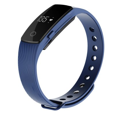 ID107 Bluetooth Smart Watch Heart Rate Monitor WristbandSmart Watches<br>ID107 Bluetooth Smart Watch Heart Rate Monitor Wristband<br><br>Bluetooth version: Bluetooth 4.0<br>Language: English,Simplified Chinese,Traditional Chinese<br>Waterproof: Yes<br>IP rating: Life water resistance<br>Screen type: OLED<br>Operating mode: Press button,Touch Screen<br>Compatible OS: Android,IOS<br>Compatability: Android 4.4, iOS 7.1 and above system<br>People: Female table,Male table<br>Available color: Black,Blue,Green,Orange,Purple<br>Type of battery: Li-polymer Battery<br>Battery Capacty: 70mAh<br>Standby time: 5-10 days<br>Charging time: About 60mins<br>Functions: Alarm Clock,Avoid phone loss,Call reminder,Calories burned measuring,Camera remote control,Distance recording,Measurement of heart rate,Pedometer,Sedentary reminder,Sleep management<br>Alert type: Vibration<br>Shape of the dial: Rectangle<br>Case material: Stainless Steel<br>Band material: TPE<br>Dial size: 4.09 x 2.0 x 1.25 cm / 1.61 x 0.79 x 0.49 inches<br>Band size: 26 x 1.5 cm / 10.24 x 0.59 inches<br>Product weight: 0.022 kg<br>Package weight: 0.052 kg<br>Product size (L x W x H): 26.00 x 2.10 x 1.25 cm / 10.24 x 0.83 x 0.49 inches<br>Package size (L x W x H): 27.00 x 3.10 x 2.25 cm / 10.63 x 1.22 x 0.89 inches<br>Package Contents: 1 x Smart Watch, 1 x USB Charging Cable, 1 x English and Chinese Manual