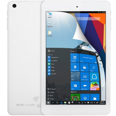 Cube iwork8 Ultimate Tablet PCTablet PCs<br>Cube iwork8 Ultimate Tablet PC<br><br>Brand: Cube<br>Type: Tablet PC<br>OS: Android 5.1,Windows 10<br>CPU Brand: Intel<br>CPU: Intel Atom X5-Z8300<br>GPU: Intel HD Graphic(Gen8)<br>Core: 1.44GHz,Quad Core<br>RAM: 2GB<br>ROM: 32GB<br>External Memory: TF card up to 32GB (not included)<br>Support Network: WiFi<br>WIFI: 802.11b/g/n wireless internet<br>Bluetooth: Yes<br>Screen type: Capacitive (5-Point),IPS<br>Screen size: 8 inch<br>Screen resolution: 1280 x 800 (WXGA)<br>Camera type: Dual cameras (one front one back)<br>Back camera: 2.0MP<br>Front camera: 2.0MP<br>TF card slot: Yes<br>Micro USB host : Yes<br>Mini HDMI: Yes<br>3.5mm Headphone Jack: Yes<br>Battery / Run Time (up to): 3 hours video playing time<br>AC adapter: 100-240V 5V 2A<br>G-sensor: Supported<br>Skype: Supported<br>Youtube: Supported<br>Speaker: Supported<br>MIC: Supported<br>Picture format: BMP,GIF,JPEG,PNG<br>Music format: AAC,MP3,OGG,WMA<br>Video format: 3GP,AVI,MP4,RMVB,WMV<br>MS Office format: Excel,PPT,Word<br>E-book format: PDF,TXT<br>3D Games: Supported<br>Languages: Dutch,English,French,German,Italian,Portuguese,Russian,Spanish<br>Note: If you need any specific language other than English and you must leave us a message when you checkout<br>Additional Features: Bluetooth,Calculator,Calendar,E-book,Gravity Sensing System,HDMI,MP3,MP4,Wi-Fi<br>Product size: 21.34 x 12.71 x 0.98 cm / 8.4 x 5 x 0.39 inches<br>Package size: 25.00 x 19.00 x 5.00 cm / 9.84 x 7.48 x 1.97 inches<br>Product weight: 0.346 kg<br>Package weight: 0.660 kg<br>Tablet PC: 1<br>OTG Cable: 1<br>USB Cable: 1<br>User Manual (Chinese - English): 1