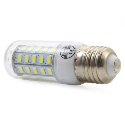 E27 4.5W AC 110V 450LM 48 SMD-5730 LED Corn LightCorn Bulbs<br>E27 4.5W AC 110V 450LM 48 SMD-5730 LED Corn Light<br><br>Angle: 360 Degree<br>Available Light Color: Cool White,Warm White<br>CCT/Wavelength: 6500K<br>Certifications: CE,RoHs<br>Emitter Types: SMD 5730<br>Features: Long Life Expectancy, Energy Saving, Low Power Consumption<br>Function: Home Lighting, Outdoor Lighting, Studio and Exhibition Lighting<br>Holder: E27<br>Luminous Flux: 450LM<br>Output Power: 4.5W<br>Package Contents: 1 x E27 4.5W 450LM 48 SMD LED Corn Light<br>Package size (L x W x H): 9.70 x 3.10 x 3.10 cm / 3.82 x 1.22 x 1.22 inches<br>Package weight: 0.050 kg<br>Product weight: 0.027 kg<br>Sheathing Material: PC<br>Type: Corn Bulbs<br>Voltage (V): 110V
