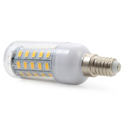 E14 4.5W AC 110V 450LM 48 SMD-5730 LED Corn LightCorn Bulbs<br>E14 4.5W AC 110V 450LM 48 SMD-5730 LED Corn Light<br><br>Angle: 360 Degree<br>Available Light Color: Cool White,Warm White<br>CCT/Wavelength: 3000K<br>Certifications: CE,RoHs<br>Emitter Types: SMD 5730<br>Features: Long Life Expectancy, Energy Saving, Low Power Consumption<br>Function: Home Lighting, Outdoor Lighting, Studio and Exhibition Lighting<br>Holder: E14<br>Luminous Flux: 450LM<br>Output Power: 4.5W<br>Package Contents: 1 x E14 4.5W 450LM 48 SMD LED Corn Light<br>Package size (L x W x H): 9.70 x 3.10 x 3.10 cm / 3.82 x 1.22 x 1.22 inches<br>Package weight: 0.050 kg<br>Product weight: 0.027 kg<br>Sheathing Material: PC<br>Type: Corn Bulbs<br>Voltage (V): 110V