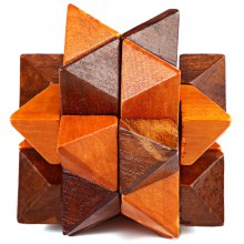 Wooden Burr Puzzle Kong Ming Lock Ball