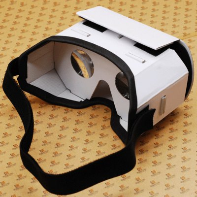 iBlue DIY Cardboard 3D Glasses with Headband for  4.7   5.5 inches Smartphones