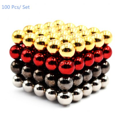100Pcs 5mm Round Shape Magnetic Block Puzzle Educational Toy