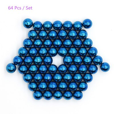 5mm Round Shape Magnetic Ball Puzzle - 64Pcs