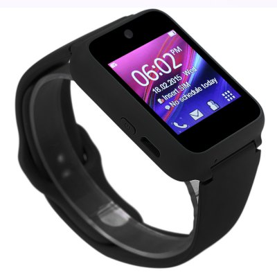 Ken Xin Da S9 Smartwatch PhoneSmart Watch Phone<br>Ken Xin Da S9 Smartwatch Phone<br><br>Additional Features: Calculator..., People, Bluetooth, Notification, MP4, MP3, 2G, Alarm, Calendar, Browser, Sound Recorder<br>Battery: 450mAh ( Non-removable)<br>Bluetooth: Yes<br>Bluetooth Headset: 1<br>Bluetooth Version: 2.0<br>Camera type: Single camera<br>Cell Phone: 1<br>Certificate: CE<br>CPU: SC6531<br>English Manual : 1<br>External Memory: TF card up to 16GB (not included)<br>Frequency: GSM850/900/1800/1900MHz<br>Front camera: 0.3MP<br>Languages: English, French, German, Russian, Spanish<br>Micro USB Slot: Yes<br>Music format: WAV, AAC, MP3<br>Network type: GSM<br>Package size: 8.80 x 7.30 x 8.40 cm / 3.46 x 2.87 x 3.31 inches<br>Package weight: 0.319 kg<br>Picture format: BMP, GIF<br>Power Adapter: 1<br>Product size: 5.40 x 3.40 x 1.40 cm / 2.13 x 1.34 x 0.55 inches<br>Product weight: 0.047 kg<br>RAM: 32MB<br>ROM: 32MB<br>Screen size: 1.54 inch<br>Screen type: Capacitive<br>SIM Card Slot: Single SIM(Micro SIM slot)<br>TF card slot: Yes<br>Type: Watch Phone<br>Video format: AVI, 3GP<br>Video recording: Yes