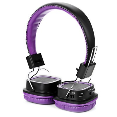 AT-BT814 Bluetooth Rotatable Stereo Purple HeadphonesBluetooth Headphones<br>AT-BT814 Bluetooth Rotatable Stereo Purple Headphones<br><br>Application: Computer, Mobile phone, Portable Media Player<br>Bluetooth: Yes<br>Bluetooth distance: W/O obstacles 10m, W/O obstacles 10m<br>Bluetooth mode: Hands free, Hands free<br>Bluetooth protocol: A2DP,AVRCP,HFP,HSP, A2DP,AVRCP,HFP,HSP<br>Bluetooth Version: V2.1, V2.1<br>Cable Length (m): 1.3 m<br>Charging Time.: About 2.5h<br>Color: Blue,Orange,Purple,Red<br>Compatible with: Computer<br>Connecting interface: Micro USB, 3.5mm<br>Connectivity: Wired and Wireless<br>Driver unit: 40mm<br>External Memory: TF card, TF card<br>FM frequency range: 2.4Hz-2.4835GHz<br>Function: Voice control, Song Switching, Answering Phone, Bluetooth, Noise Cancelling, Microphone<br>Model: AT-BT814<br>Package Contents: 1 x Headphones, 1 x Charging Cable ( 50cm ), 1 x 3.5mm Audio Cable ( 130cm ), 1 x Chinese and English User Manual, 1 x Headphones, 1 x Charging Cable ( 50cm ), 1 x 3.5mm Audio Cable ( 130cm ), 1 x Chinese and English User Manual<br>Package size (L x W x H): 19.50 x 7.20 x 15.00 cm / 7.68 x 2.83 x 5.91 inches, 19.50 x 7.20 x 15.00 cm / 7.68 x 2.83 x 5.91 inches<br>Package weight: 0.2650 kg, 0.2650 kg<br>Powlev: CLASS II, CLASS II<br>Product size (L x W x H): 15.00 x 6.50 x 18.00 cm / 5.91 x 2.56 x 7.09 inches, 15.00 x 6.50 x 18.00 cm / 5.91 x 2.56 x 7.09 inches<br>Product weight: 0.1390 kg, 0.1390 kg<br>Sound channel: Two-channel (stereo)<br>Standby time: About 250h<br>Wearing type: Headband<br>Working Time: About 10h