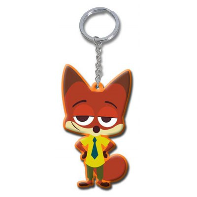 Fox Style Mini PVC Key Ring 6cm
