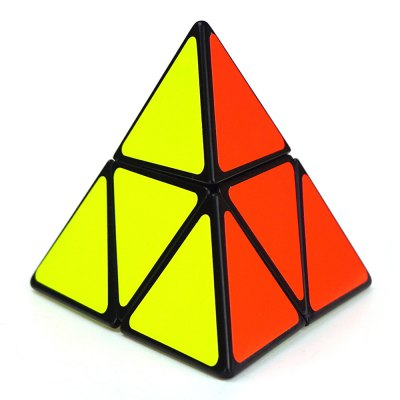 Shengshou Cube 9.8cm Length Mix-color Base Pyraminx Portable Intelligent Toy