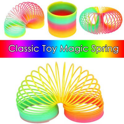 Classic Rainbow Spring Toy 8.5cm Diameter with High Flexibility for Kid Game Gift