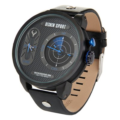 Besnew BN-1512 Radar Function Dual Movt Men Quartz Watch