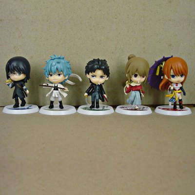 6 - 8cm Height 5 / Set GINTAMA Style Toy Table / Bookshelf Ornamentation Gift for Kids