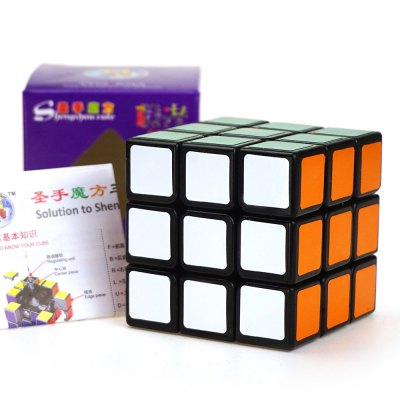 Shengshou Cube 5.6cm Height Black Base Rubik Cube Portable Intelligent Toy