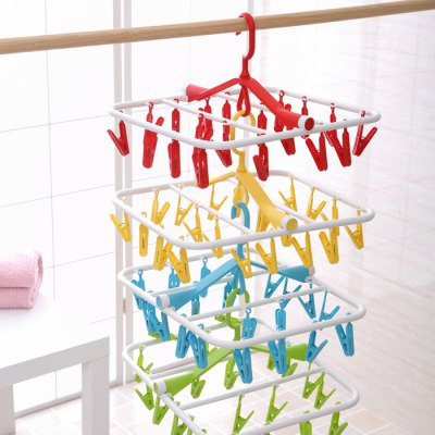 Folding PP Clothes Hanger with 20 Racks