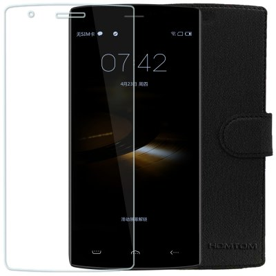 Original HOMTOM HT7 / HT7 Pro Tempered Glass Screen Protector + Protective Case