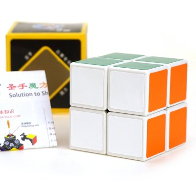 Shengshou Cube 5cm Height White Base Cube Portable Intelligent Toy