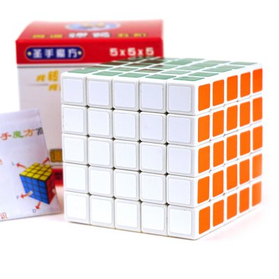 Shengshou Cube Glossy 6.3cm Height White Base Rubik Professor Portable Intelligent Toy