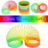 cheap Classic Rainbow Spring Toy 8.5cm Diameter with High Flexibility for Kid Game Gift