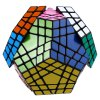 Shengshou Cube 7115A 5 x 5 x 5 Gigaminx Portable Intelligent Toy Black Base deal