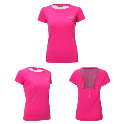TOREAD Female Fitness Running T-shirt Mesh Back DesignWeight Lifting Clothes<br>TOREAD Female Fitness Running T-shirt Mesh Back Design<br><br>Brand: Toread<br>Types: Short Sleeves<br>Size: 2XL,L,M,XL<br>Features: Breathable,Quick Dry<br>Gender: Women<br>Material: Polyester<br>Color: Blue,Orange,Rose Red<br>Product weight: 0.170KG<br>Package weight: 0.240 KG<br>Package size: 25.00 x 18.00 x 2.00 cm / 9.84 x 7.09 x 0.79 inches<br>Package Content: 1 x TORAED Female T-shirt