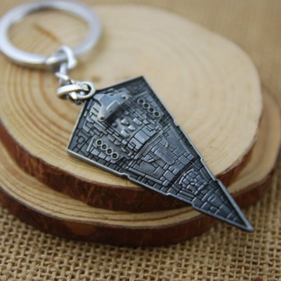 Imperial Star Destroyer Model Key Ring Pendant Decoration Spaceship Shape Movie Product