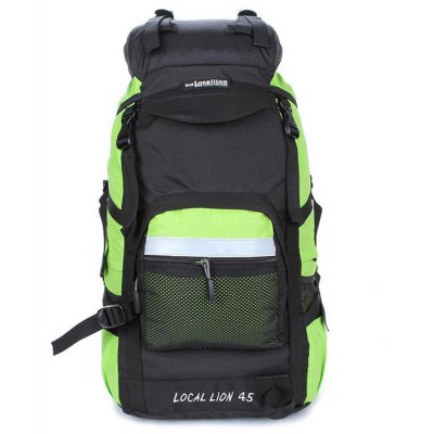 LOCAL LION 42L Water Resistant Trekking BackpackBackpacks<br>LOCAL LION 42L Water Resistant Trekking Backpack<br><br>Brand: LOCAL LION<br>Type: Backpack<br>For: Adventure,Camping,Climbing,Cycling,Fishing,Hiking,Traveling<br>Material: Nylon<br>Features: Water Resistance<br>Backpack Capacity: &gt;40L<br>Bag Capacity: 42L<br>Product weight: 1.400KG<br>Package weight: 1.550 KG<br>Product size (L x W x H): 50.00 x 35.00 x 24.00 cm / 19.69 x 13.78 x 9.45 inches<br>Package size (L x W x H): 52.00 x 37.00 x 8.00 cm / 20.47 x 14.57 x 3.15 inches<br>Package Contents: 1 x LOCAL LION 42L Trekking Backpack