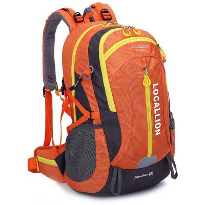 LOCAL LION 40L Water Resistant Trekking BackpackBackpacks<br>LOCAL LION 40L Water Resistant Trekking Backpack<br><br>Brand: LOCAL LION<br>Type: Backpack<br>For: Adventure,Camping,Climbing,Cycling,Fishing,Hiking,Traveling<br>Material: Nylon<br>Features: Water Resistance<br>Backpack Capacity: 21~40L<br>Bag Capacity: 40L<br>Color: Black,Blue,Green,Orange,Purple,Red<br>Product weight: 1.200 kg<br>Package weight: 1.350 kg<br>Product size (L x W x H): 50.00 x 30.00 x 18.00 cm / 19.69 x 11.81 x 7.09 inches<br>Package size (L x W x H): 52.00 x 32.00 x 7.00 cm / 20.47 x 12.60 x 2.76 inches<br>Package Contents: 1 x LOCAL LION 40L Trekking Backpack