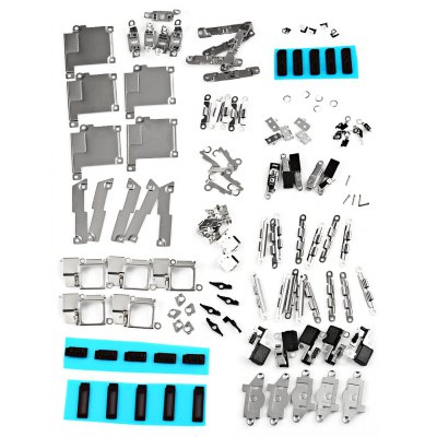 5Pcs / Set Small Metal Parts Holder Bracket Shield Plate Home Logic Kits Replace Components for iPhone 5S
