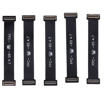 5Pcs LCD Display Screen Digitizer Testing Flex Cable Repair Conponents for iPhone 6s