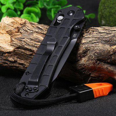 Ganzo G7453P-BK-WS Axis Lock Pocket Knife with Tactical Blade
