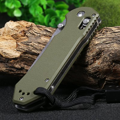 Ganzo G7452-GR-WS Axis Lock Pocket KnifePocket Knives and Folding Knives<br>Ganzo G7452-GR-WS Axis Lock Pocket Knife<br><br>Brand: GANZO<br>Model Number: G745<br>Lock Type: Axis Lock<br>Blade Edge Type: Fine<br>Blade Length Range: 5cm-10cm<br>Weight Range: 101g-200g<br>For: Adventure,Camping,Collecting,Hiking,Home use,Travel<br>Color: Army green,Black,Orange<br>Blade Material: 440C stainless steel<br>Handle Material: G10 handle<br>Fold Length: 12.0 cm<br>Unfold Length: 21.0 cm<br>Clip Length: 6.1 cm<br>Blade Length: 9.0 cm<br>Blade Width : 2.8 cm<br>Hardness: 58 HRC<br>Product weight: 0.142 kg<br>Package weight: 0.215 kg<br>Product size (L x W x H): 12.00 x 3.30 x 1.20 cm / 4.72 x 1.3 x 0.47 inches<br>Package size (L x W x H): 15.50 x 6.50 x 4.50 cm / 6.1 x 2.56 x 1.77 inches<br>Package Contents: 1 x Ganzo G7452-GR-WS Pocket Knife, 1 x Storage Bag, 1 x Whistle