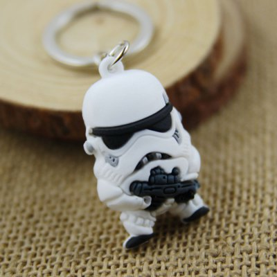 White Soldier Key Ring Pendant 4cm Movie Product