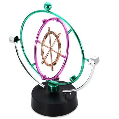 Electric Colorful Kinetic Orbital Perpetual Motion Swing Moving Ball