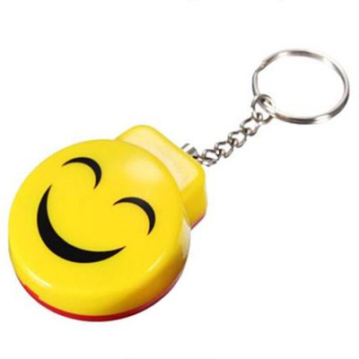 Lightweight Safety Security Alarm Keychain for Kids Package Smile Face