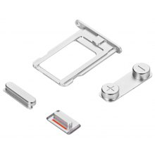 SIM Card Tray Slot Power Volumn Mute Side Button Switch Set Replacements for iPhone 5