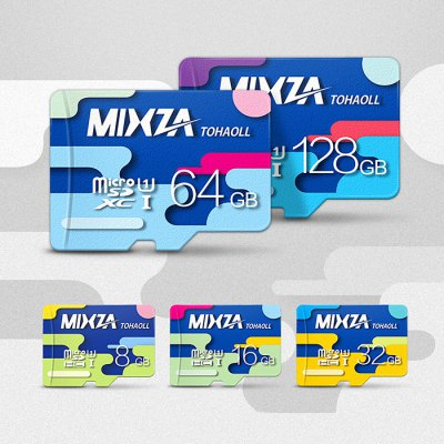 MIXZA TOHAOLL Colorful Series 16GB Micro SD Memory Card - MIXZAMemory Cards<br>MIXZA TOHAOLL Colorful Series 16GB Micro SD Memory Card<br><br>Brand: MIXZA<br>Memory Card Type: Micro SD/TF<br>Memory Capacity: 16G<br>Read Speed: 80MB/s<br>Product weight: 0.001 kg<br>Package weight: 0.010 kg<br>Product size (L x W x H): 1.50 x 1.10 x 0.20 cm / 0.59 x 0.43 x 0.08 inches<br>Package size (L x W x H): 10.00 x 13.00 x 0.50 cm / 3.94 x 5.12 x 0.20 inches<br>Package Contents: 1 x MIXZA TOHAOLL Colorful Series Micro SD Memory Card