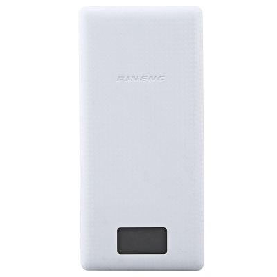 Original PINENG PNW - 969 20000mAh Power BankPower Banks<br>Original PINENG PNW - 969 20000mAh Power Bank<br><br>Brand: Pineng<br>Type: Portable Mobile Powers<br>Model: PNW - 969<br>Compatibility: Universal<br>Capacity Range: Over 10000mAh<br>Capacity (mAh): 20000mAh<br>Special Functions : Backup Power,LCD Digital Display,Quick Charge<br>Connection Type: Universal<br>Battery Type: Li-Polymer Battery<br>Color: Black,White<br>Material: PC<br>Input: 5V 2A<br>Output: 5V 1A and 5V 2.1A<br>Product weight: 0.402KG<br>Package weight: 0.500 KG<br>Product size (L x W x H): 16.50 x 7.80 x 2.10 cm / 6.5 x 3.07 x 0.83 inches<br>Package size (L x W x H): 20.50 x 11.00 x 3.00 cm / 8.07 x 4.33 x 1.18 inches<br>Package Contents: 1 x Original PINENG PNW - 969 20000mAh Dual USB 2.1A 1.0A External Mobile Battery Charger Pack Power Bank with Built-in Li-Polymer Support LCD Display, 1 x USB Cable, 1 x English User Manual