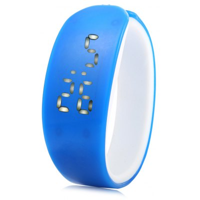 Jijia Dolphin Shape Dial White Digital Date LED Watch Candy Color