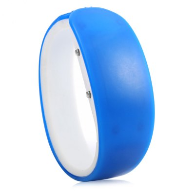 Jijia Dolphin Shape Dial Red Digital Date LED Watch Candy Color