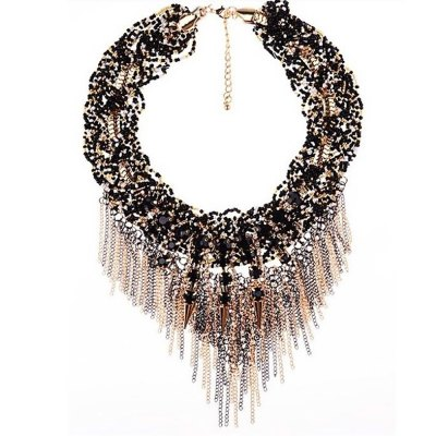 WQ009 Luxury Twisted Tassel Alloy Necklace for LadiesNecklaces &amp; Pendants<br>WQ009 Luxury Twisted Tassel Alloy Necklace for Ladies<br><br>Occasions: Casual,Party,Performance,Personalized Photo<br>Style: Fashion<br>Fabric: Alloy<br>Jewelry Silhouette: Twist<br>Product weight: 0.194 kg<br>Package weight: 0.224 kg<br>Product size (L x W x H): 15.00 x 22.00 x 12.00 cm / 5.91 x 8.66 x 4.72 inches<br>Package size (L x W x H): 20.00 x 30.00 x 15.00 cm / 7.87 x 11.81 x 5.91 inches<br>Package Contents: 1 x Necklace