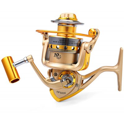 HF - 7000 10 Ball Bearings Spinning Fishing Reel 5.5 : 1