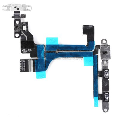5 Set On / OFF Power Mute Volume Button With Brackets Flex Cable Replacements for iPhone 5C